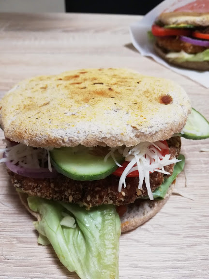 vegan hamburger 5